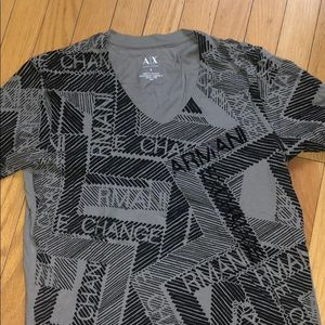 armani exchange gray shirt